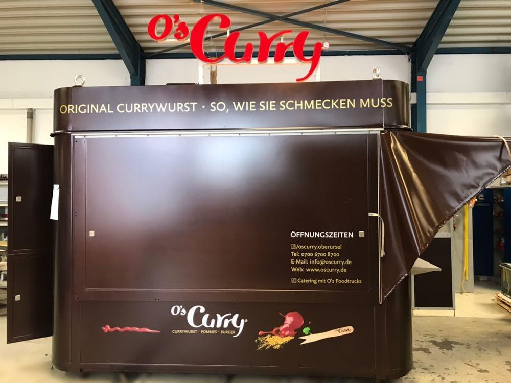 O's Curry Imbiss, ImbissContainter, Verkaufscontainter - Spike Front geshlossen